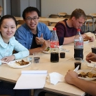 Student Po-Wen Chen and two fellow students at AUAS Summer School