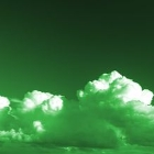 green photo of clouds