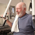old man in gym